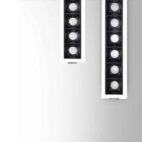Beneito Faure Tram Incasso Lineare a 2 Luci LED Tunable White per Cartongesso Tuya Smart Bluetooth
