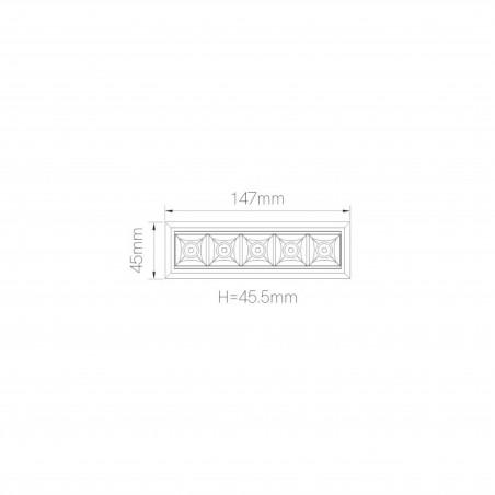 Beneito Faure Tram Incasso Lineare a 5 Luci LED Tunable White per Cartongesso Tuya Smart Bluetooth