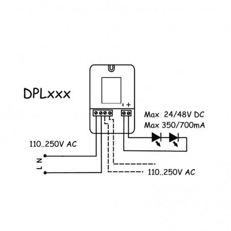 Alimentatore QLT DPL304E 11W 14V 700 mA per Moduli LED