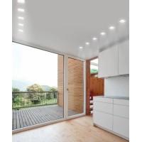 Lampo Faretto GU10 Quadrato Orientabile Da Incasso a Soffitto In Gesso da Interno