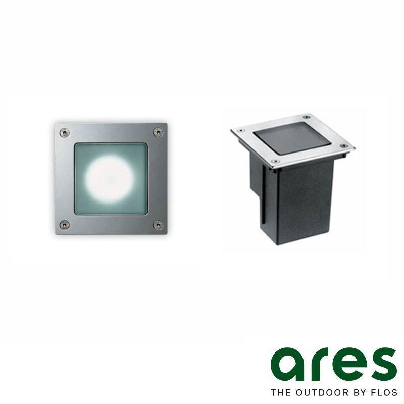 Ares Bea Faretto Incasso Quadrato Parete/Pavimento IP67