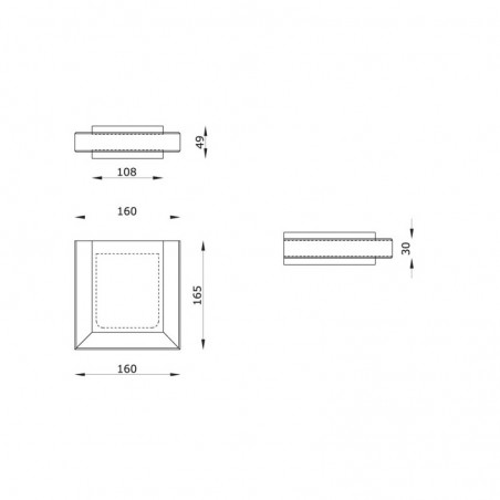 Ares Steel Module Applique Wall Lamp Stainless Steel Glass IP54