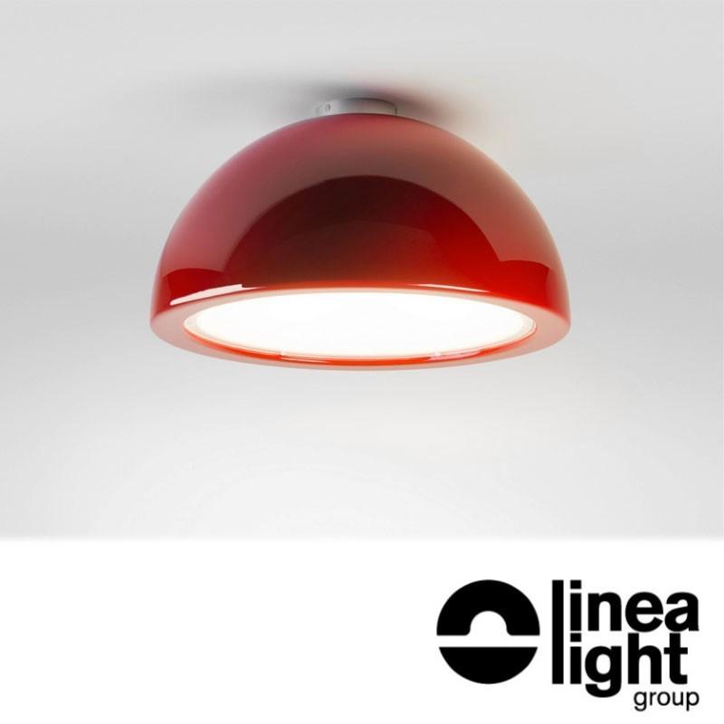 Linea Light 7717 Entourage LED Lampada da Soffitto Sospensione / Plafone Orientabile 26W Rosso