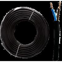 Black Neoprene Cable 2x1.00 mm2 H07RN-F Bipolar Blue-Brown 1 meter
