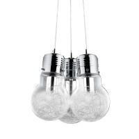 Ideal Lux Luce Max SP3 Lampada A Sospensione a Tre Luci In Vetro Con Decorazione Interna