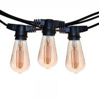Catena Luminosa Cordoniera Nero 10 Portalampada E27 11.5mt Prolungabile Lampadine LED Cono per Esterno