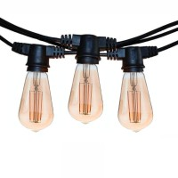 String Lights Black 10 Lamp holder E27 11.5mt Extendable LED Bulb Cone for Outdoor