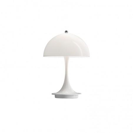Louis Poulsen Panthella Portable Lampada LED USB da Tavolo Bianca Portatile Ricaricabile By Verner Panton