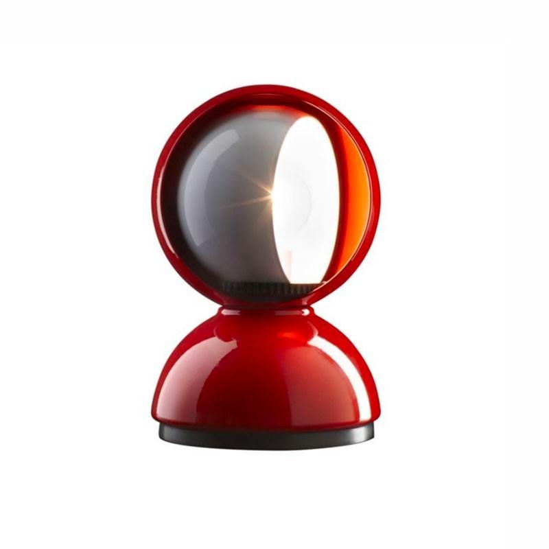 Artemide Eclisse E14 25W Lampada da Tavolo Rosso By Vico Magistretti