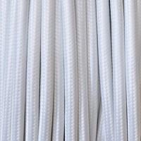 Cavo Elettrico 2X o 3X Tondo in Tessuto Colore Bianco