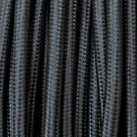 Electrical Round Cable 2X o 3X in Fabric Black