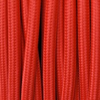 Electrical Round Cable 2X o 3X in Fabric Red