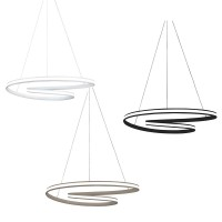 Vivida Circuit Dimmable LED Spiral Suspension Lamp with External Diffuser