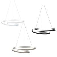 Vivida Circuit Lampada LED Dimmerabile da Sospensione a Spirale con Diffusore Esterno