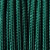 Cavo Elettrico 2X o 3X Tondo in Tessuto Colore Verde Petrolio