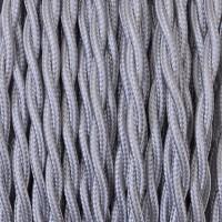 Cavo Elettrico 2X o 3X Treccia in Tessuto Colore Argento