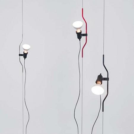 Flos Parentesi Lampada da Sospensione Nero Design by Achille Castiglioni & Pio Manzù