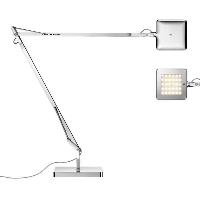 Flos Kelvin LED Base Lampada da Tavolo Cromo Dimmer