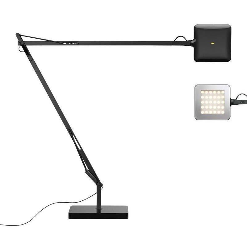 Flos Kelvin LED Base Lampada da Tavolo Nero F3311030 Dimmer