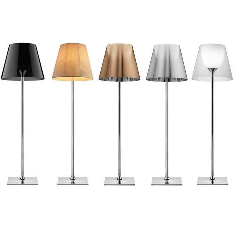 Flos Ktribe F3 1830mm Floor Lamp for Indoor diffused lighting dimmable chrome-plated Zamak alloy by Philippe Starck