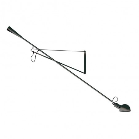 Flos 265 Wall Lamp adjustable Black by Paolo Rizzato design