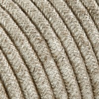 Electrical Twisted Cable 2X o 3X in Fabric Canvas Beige
