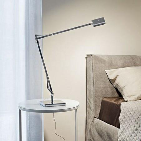 Flos Kelvin EDGE Base LED Table Lamp Chrome