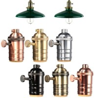 e27 lamp holder vintage gold with roller switch