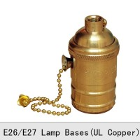 e27 lamp holder with vintage gold zipper chain chain