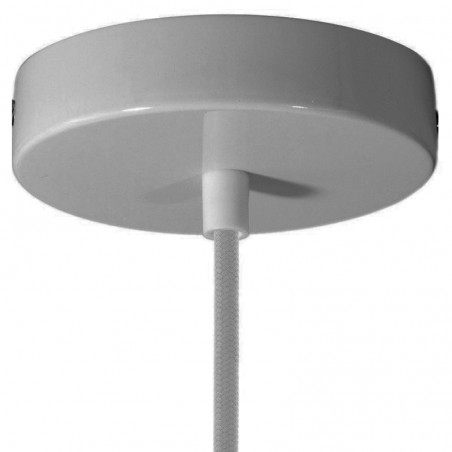 Rosetta wall ceiling with single output black