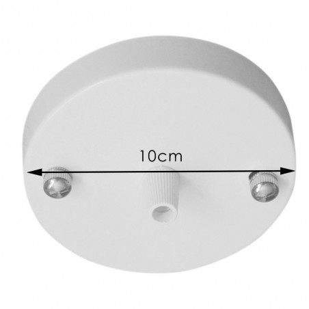 Ceiling or Wall Rose with Single Output White