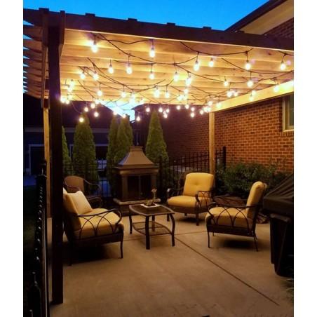 Light Chain 5 Lampholder E27 5 mt Outdoor Extendable Black