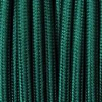 Cavo Elettrico 2X o 3X 10 metri tondo in Tessuto Colore Verde Petrolio