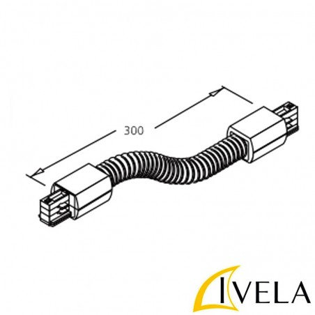 Ivela power coupling White Flexible Track Three Phase
