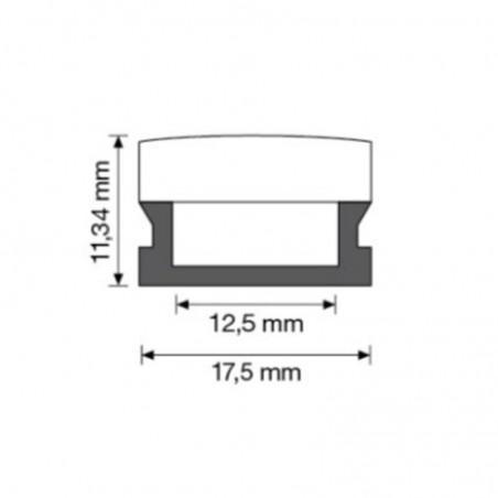 Duralamp 1 Metro Profilo Flessibile PMMA (Silicone) per Strip LED 12mm