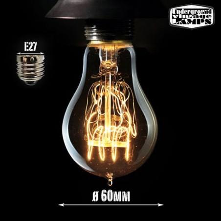 A60 bulb vintage drop 40w filament carbon e27