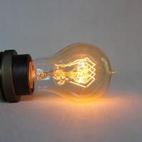 Lampadina vintage a60 60w goccia e27 filamento carbonio