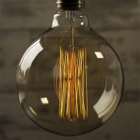 Vintage G125 60w bulb globe e27 carbon filament