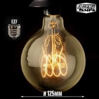 G125 vintage style globe light bulb 60w e27 carbon filament