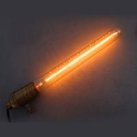 Lampadina Vintage 40W tubo 300mm E27 filamento carbonio