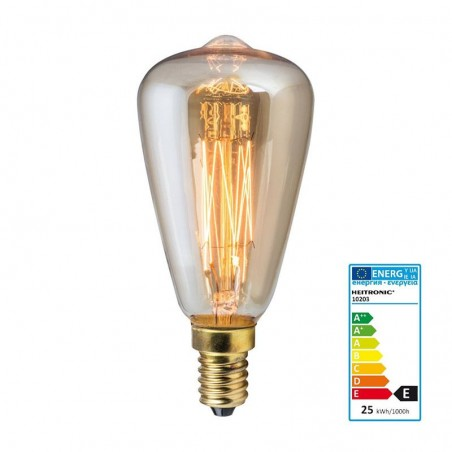 vintage lamp 40w d46 cone and 14 carbon filament lamp