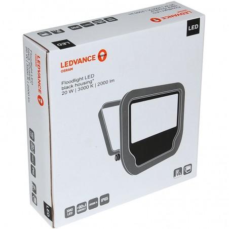 Osram LEDVANCE Floodlight Projector LED 20W 3000K 2000lm Outdoor Spotlight IP65 Black