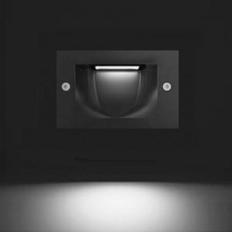 Cariboni FIN XS 4W LED 3000K Segnapasso Faretto Incasso Esterno Bianco