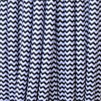 Cavo Elettrico 2X o 3X Tondo in Tessuto Colore Bianco e Nero