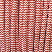 Cavo Elettrico 2X o 3X Tondo in Tessuto Colore Bianco e Rosso