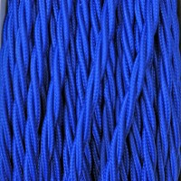 Cavo Elettrico 2X o 3X Treccia in Tessuto Colore Blu