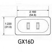 Led bulbs with lamp holder GX16D
